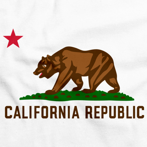 California State Flag Tee White art preview