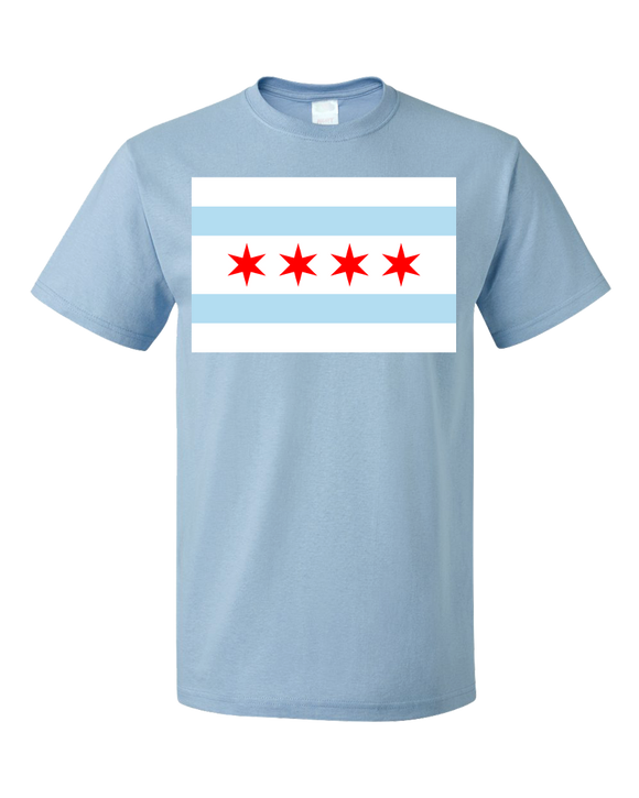Standard Light Blue Chicago City Flag - Chicago Pride Second City Love Native T-shirt