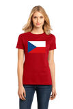 Ladies Red Czech Republic Flag - Czech Republic Heritage Pride Ancestry T-shirt