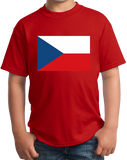 Youth Red Czech Republic Flag - Czech Republic Heritage Pride Ancestry T-shirt