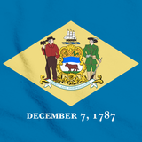 Delaware State Flag Tee Aqua Blue art preview