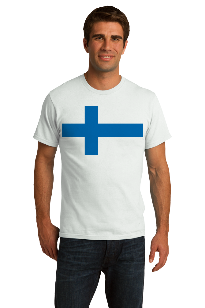 Standard White Finnish National Flag - Finland Heritage Ancestry Pride Suomi T-shirt