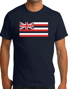 Standard Navy Hawaii State Flag - Hawaii State Hawaiian Ka Hae Hawai'i Pride T-shirt