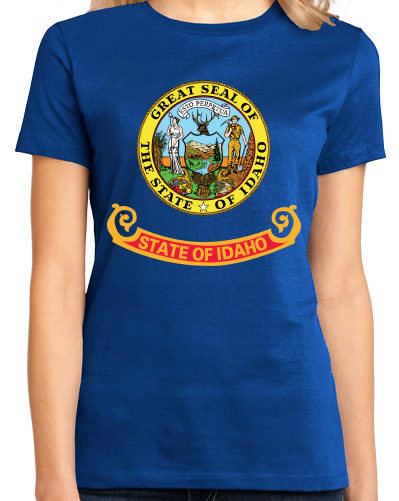 Ladies Royal Idaho State Flag - Idaho State Flag Heritage Pride Home Love T-shirt