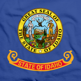 Idaho State Flag Tee Royal Art Preview