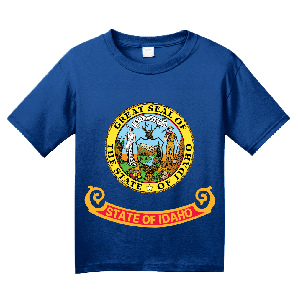 Youth Royal Idaho State Flag - Idaho State Flag Heritage Pride Home Love T-shirt