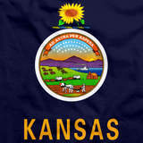 Kansas State Flag Navy art preview