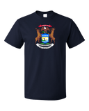 Standard Navy Michigan State Flag - Michigan State Pride Detroit Home Love T-shirt
