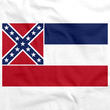 Mississippi State Flag Tee White art preview