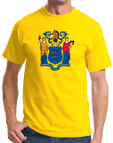 Standard Yellow New Jersey State Flag - New Jersey State Flag Shore The Boss T-shirt