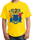 Youth Yellow New Jersey State Flag - New Jersey State Flag Shore The Boss T-shirt