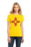 Ladies Yellow New Mexico State Flag - New Mexico Flag Pride Breaking Bad Love T-shirt