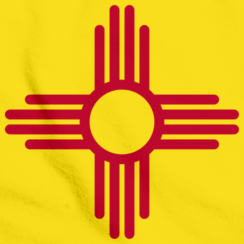 New Mexico State Flag Yellow art preview