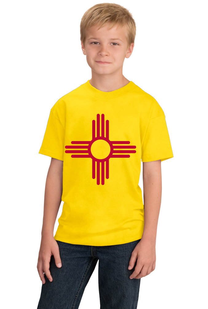 Youth Yellow New Mexico State Flag - New Mexico Flag Pride Breaking Bad Love T-shirt