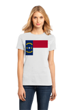 Ladies White North Carolina State Flag - North Carolina Raleigh Charlotte T-shirt