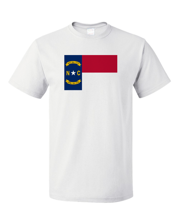Standard White North Carolina State Flag - North Carolina Raleigh Charlotte T-shirt