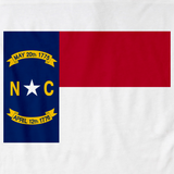 North Carolina State Flag Tee White art preview