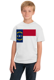 Youth White North Carolina State Flag - North Carolina Raleigh Charlotte T-shirt