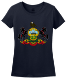 Ladies Navy Pennsylvania State Flag - Pennsylvania PA Philadelphia Pride T-shirt