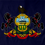 Pennsylvania State Flag Tee Navy art preview