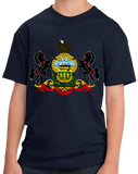 Youth Navy Pennsylvania State Flag - Pennsylvania PA Philadelphia Pride T-shirt