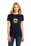 Ladies Navy Vermont State Flag - Vermont Pride New England Maple Syrup Love T-shirt