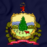 Vermont State Flag Navy art preview