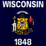 Wisconsin State Flag Tee Navy art preview