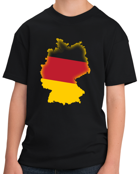 Youth Black Flag Fill Germany - German Heritage Pride Deustschland Rhineland T-shirt
