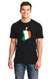Standard Black Ireland Map Filled With Irish Flag - Irish Heritage Pride T-shirt