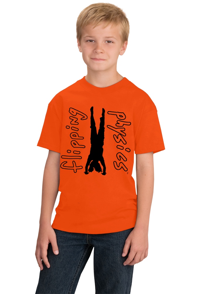 Youth Orange Light Handstand Tees T-shirt