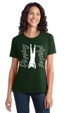 Ladies Forest Green Dark Handstand Tees T-shirt