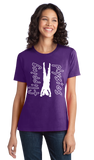 Ladies Purple Dark Handstand Tees T-shirt