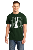 Unisex Forest Green Dark Handstand Tees T-shirt