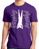 Unisex Purple Dark Handstand Tees T-shirt