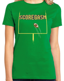 Ladies Green SCOREGASM T-shirt