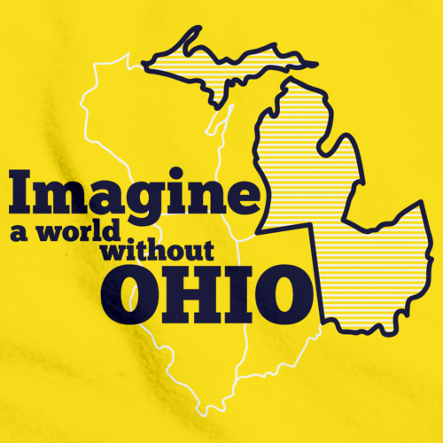 IMAGINE A WORLD WITHOUT OHIO Yellow art preview