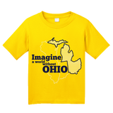 Youth Yellow Imagine A World Without Ohio - Michigan Fan Ohio Hater Funny T-shirt