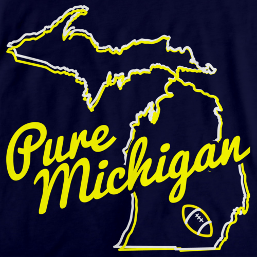 PURE MICHIGAN Navy art preview