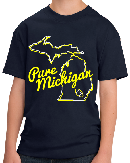 Youth Navy Pure Michigan - Ann Arbor, MI Football Hometown Pride T-shirt