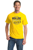 Standard Yellow WIN OR LOSE, I'M GOING TO RICK'S T-shirt