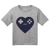 Youth Grey I <3 Gaming - Gamer Love Nerd Geeky Funny Cute Video Games Humor T-shirt
