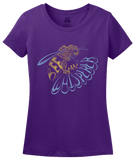 Ladies Purple Bee Whisperer - Beekeeper Bees Honey Cute Garden Bumblebee Gift T-shirt