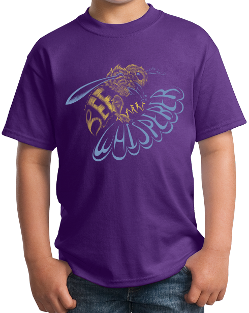 Youth Purple Bee Whisperer - Beekeeper Bees Honey Cute Garden Bumblebee Gift T-shirt