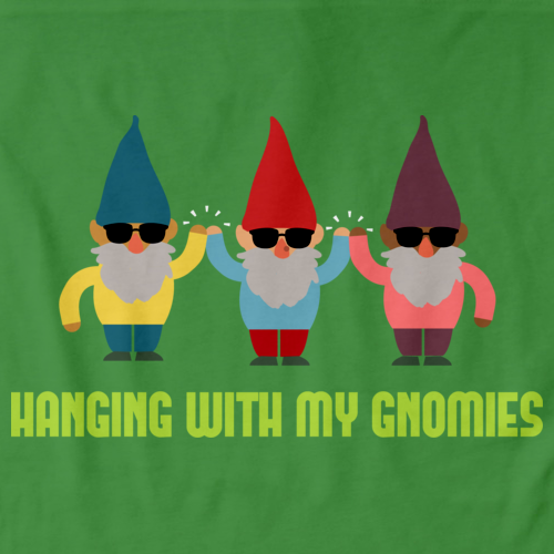 HANGING WITH MY GNOMIES Green art preview