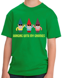 Youth Green Hanging With My Gnomies - Garden Gnome Cute Funny Yard Gardening T-shirt