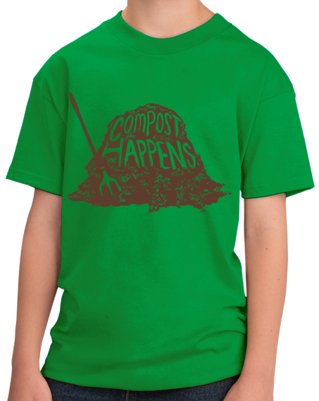 Youth Green Compost Happens - Bathroom Humor Compost Gardening Funny Joke T-shirt