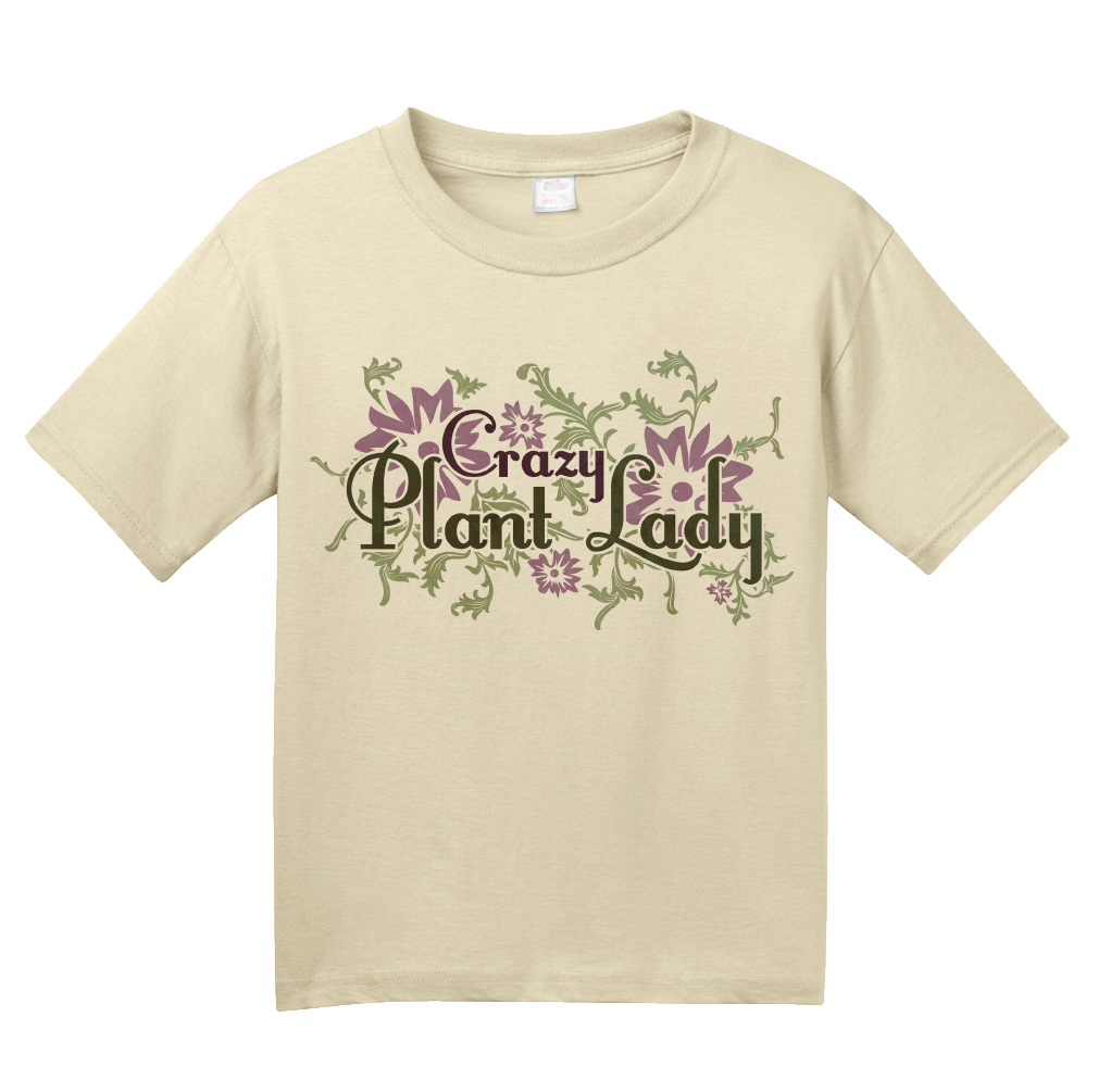 Youth Natural Crazy Plant Lady - Gardener Mom Awesome Cute Funny Gift Flowers T-shirt