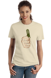 Ladies Natural Green Thumb - Gardening Hipster Urban Garden Rooftop Cool Funny T-shirt