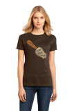 Ladies Brown Trowl & Error - Funny Gardening Humor Hipster Pun Dad Mom Joke T-shirt